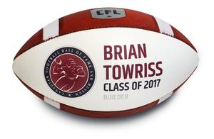 Just in time for Vanier Cup: Hall of Famer Brian Towriss (USask) autographed induction football