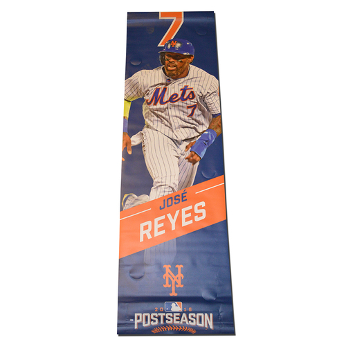 Photo of Jose Reyes #7 - Citi Field Banner - 2016 Postseason