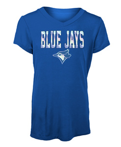 Toronto Blue Jays Youth Jersey V-neck T-shirt by New Era