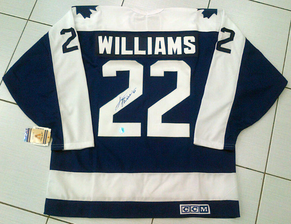 TIGER WILLIAMS Autographed Toronto Maple Leafs Vintage Hockey Jersey