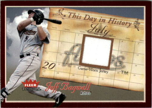 Photo of 2004 Fleer Tradition This Day in History Game Used #JB Jeff Bagwell Jsy