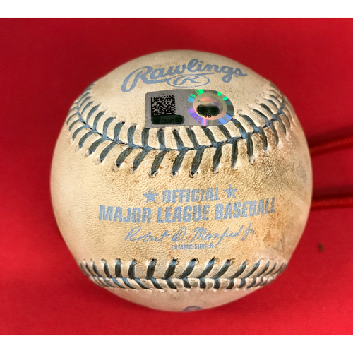Photo of Bronson Arroyo -- Game-Used Father's Day Baseball-From Arroyo's Final Major League Game of 16-Year Career -- Billy  Hamilton (Single) -- Reds vs. Dodgers on June 18, 2017