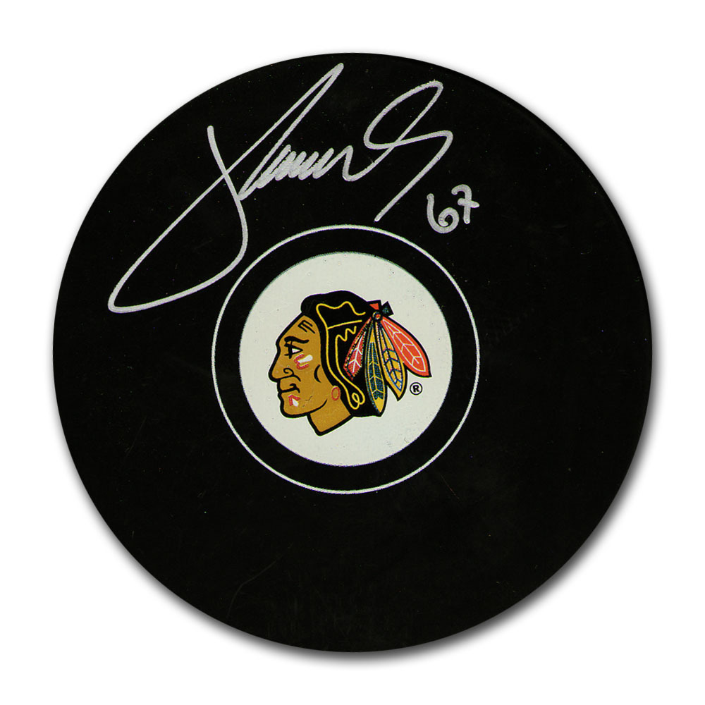 Michael Frolik Autographed Chicago Blackhawks Puck