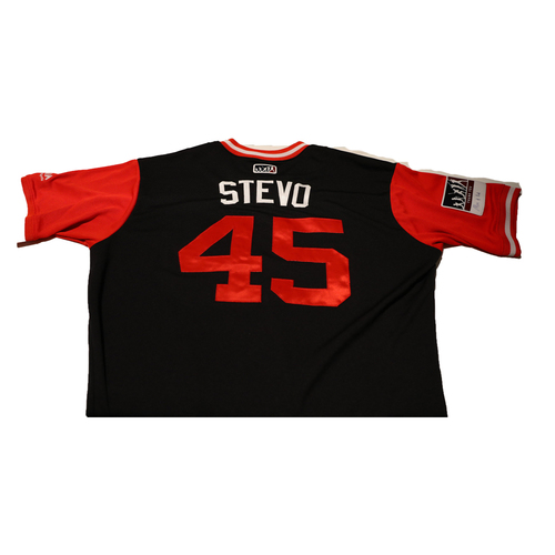 "Photo of Andrew ""Stevo"" Stevenson Washington Nationals Game-Used Players Weekend Jersey"