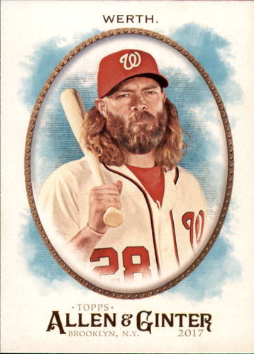 Photo of 2017 Topps Allen and Ginter #112 Jayson Werth -- Nationals post-season