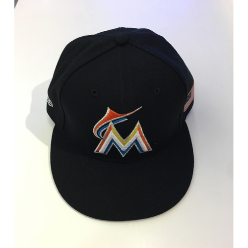 Photo of Christian Yelich Game-Used Hat - 7 1/4
