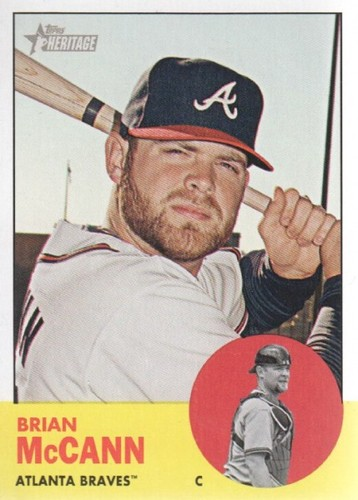Photo of 2012 Topps Heritage #308 Brian McCann