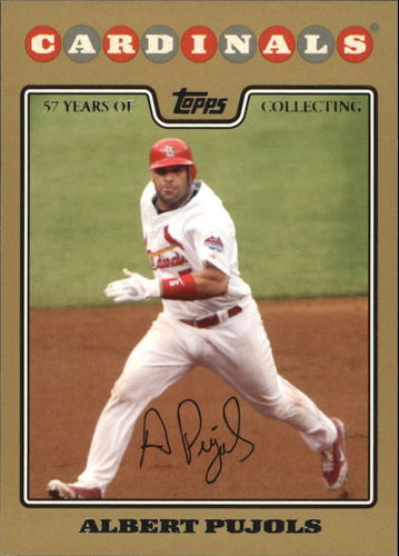 Photo of 2008 Topps Gold Border #490 Albert Pujols
