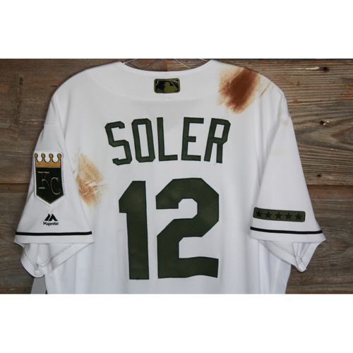 Photo of Game-Used Jorge Soler Memorial Day Jersey (Size 46) (5/29/17 DET @KC)