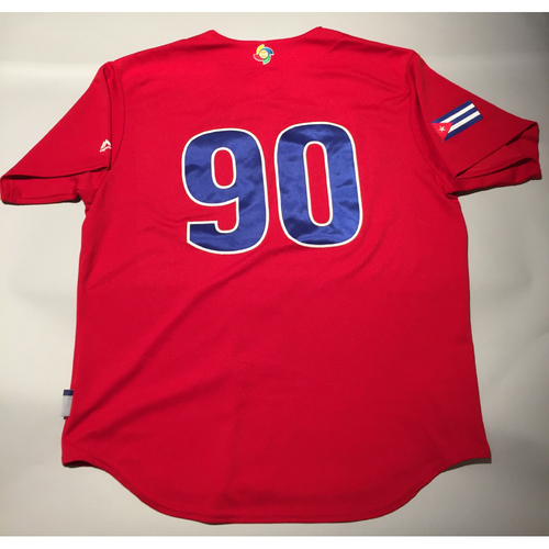 Photo of 2017 WBC: Cuba Game-Used Batting Practice Jersey, #90