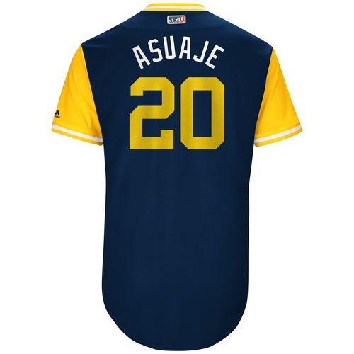 "Photo of Carlos ""Asuaje"" Asuaje San Diego Padres Game-Used Players Weekend Jersey"
