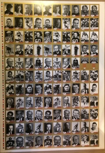 Grey Cup winners! The greats of the game! Uncut, complete JOGO card sheet personally autographed by many hall of famers!