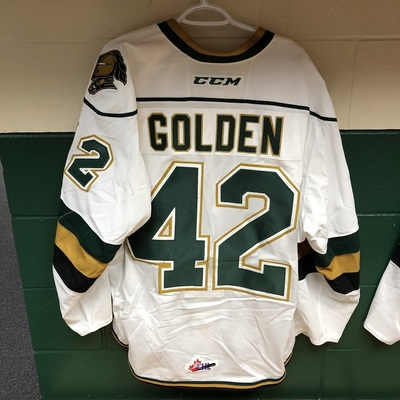 Jacob Golden 2016-2017 White Game Jersey