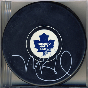 Mike Babcock Toronto Maple Leafs Autographed Hockey Puck