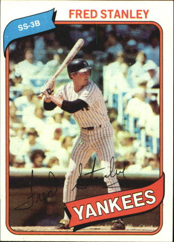Photo of 1980 Topps #387B Fred Stanley (Red Name on Front)