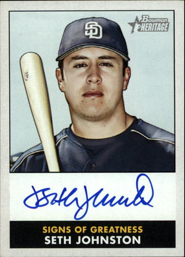 Photo of 2007 Bowman Heritage Signs of Greatness #SJ Seth Johnston G