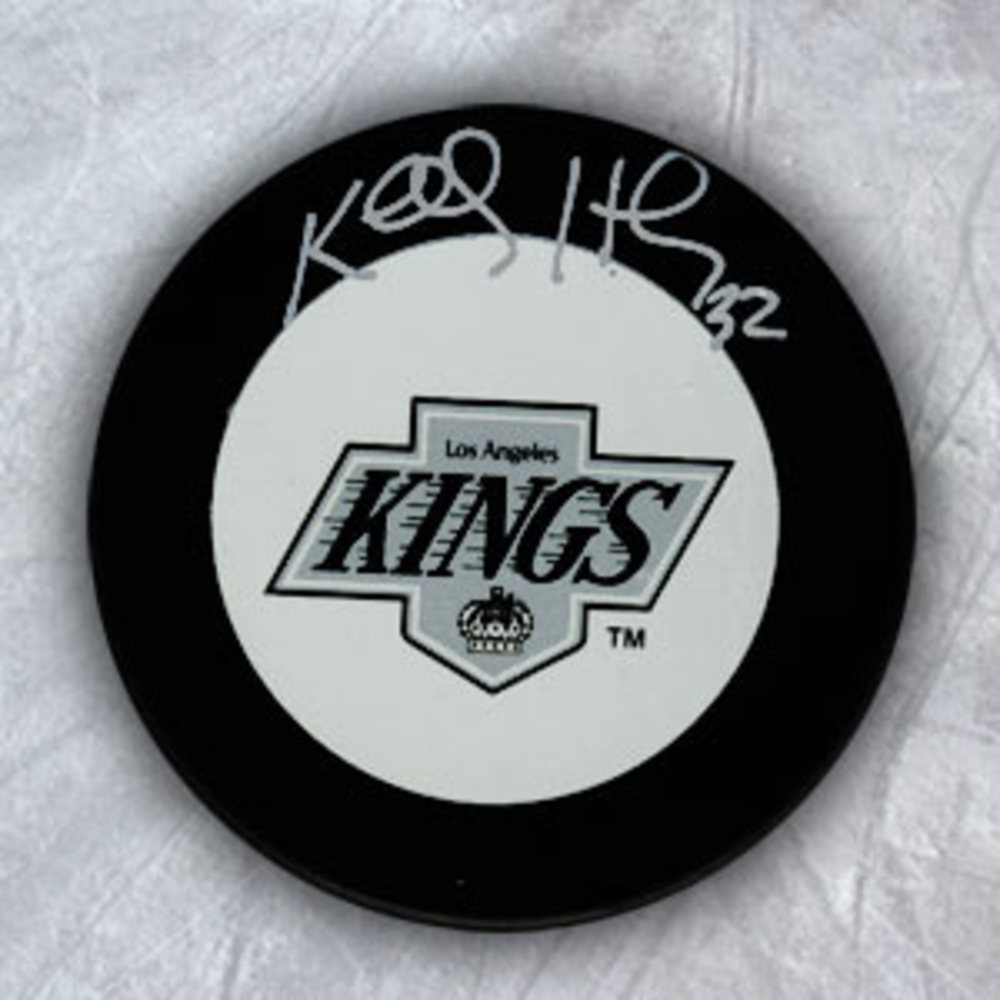 KELLY HRUDEY Los Angeles Kings Autographed Hockey Puck