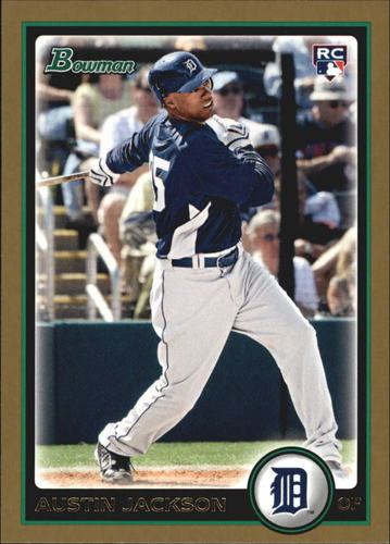Photo of 2010 Bowman Gold #198 Austin Jackson -- Indians post-season