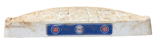 Photo of Game-Used Base -- Cubs 2017 Season -- Games Played at Wrigley Field