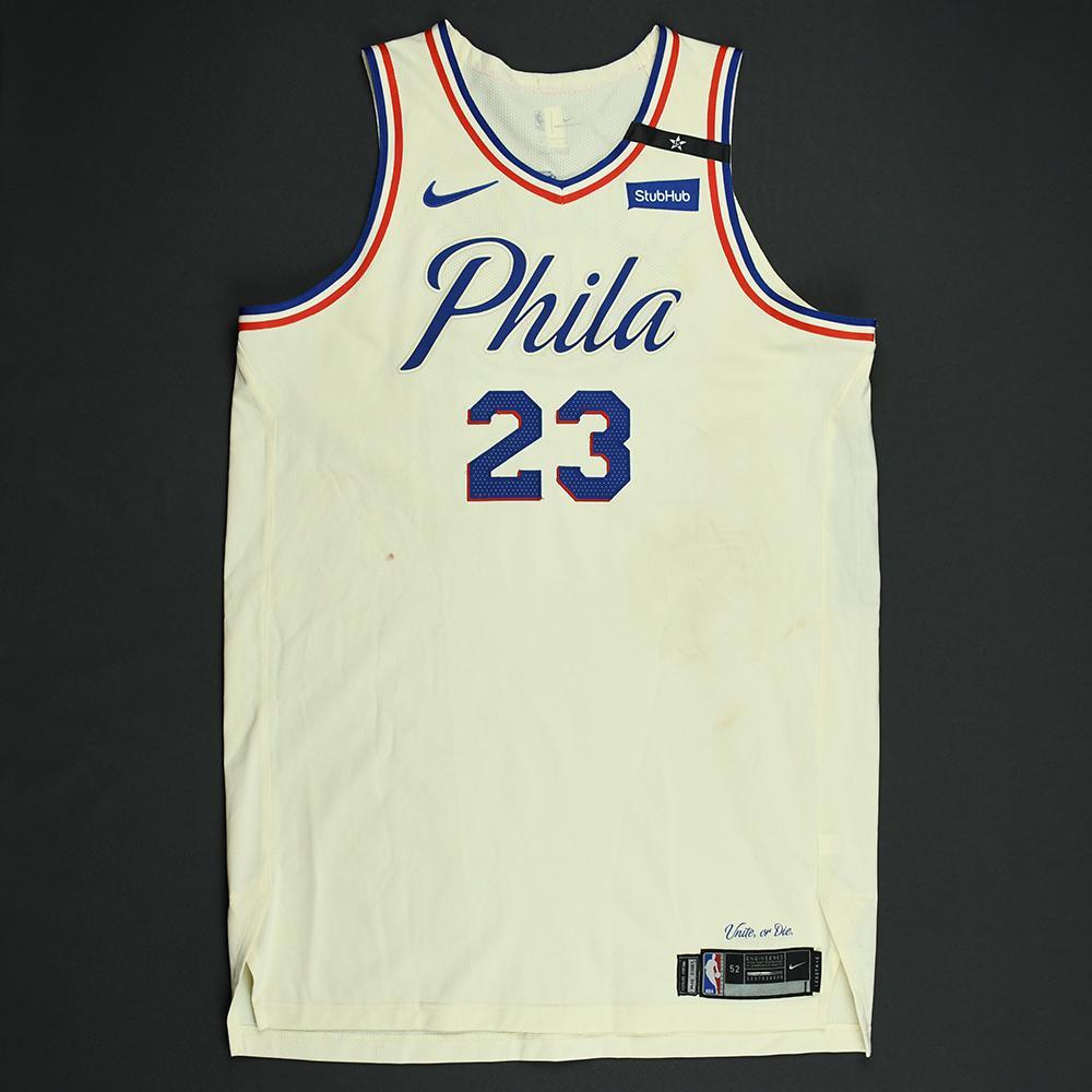 Ersan Ilyasova - Philadelphia 76ers - 2018 NBA Playoffs Game-Worn City Jersey