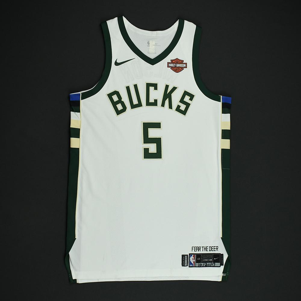D.J. Wilson - Milwaukee Bucks - Game-Worn Rookie Debut Jersey - 2017-18 Season