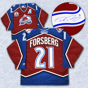 Peter Forsberg Colorado Avalanche Autographed Retro CCM 2001 Stanley Cup Jersey