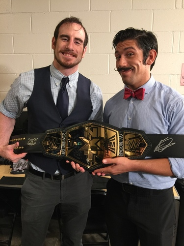 Photo of The VaudeVillains SIGNED NXT Tag Team Championship Replica Title (NXT TakeOver: Brooklyn - 8/22/15)