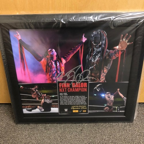 "Photo of Finn Bálor Signed ""Beast in the East"" NXT Champion Limited Edition Commemorative Plaque"