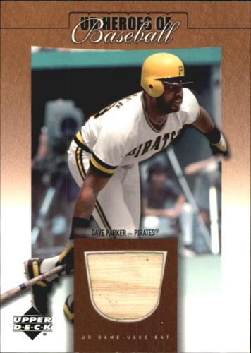 Photo of 2001 Upper Deck Prospect Premieres Heroes of Baseball Game Bat #BDP Dave Parker