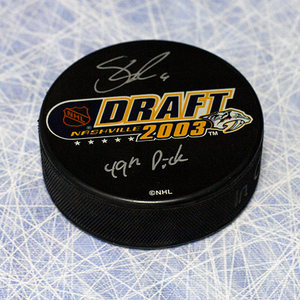 Shea Weber Autographed 2003 NHL Draft Day Puck w 49th Pick *Nashville Predators*