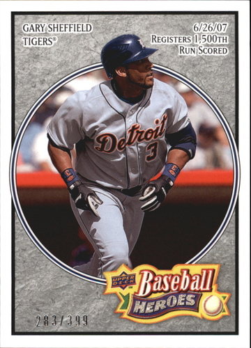 Photo of 2008 Upper Deck Heroes Charcoal #63 Gary Sheffield