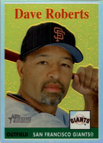 Photo of 2007 Topps Heritage Chrome Refractors #THC60 Dave Roberts