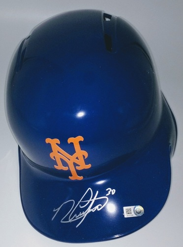 Photo of Michael Conforto Autographed Mets Batting Helmet