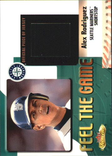 Photo of 2000 Fleer Showcase Feel the Game #6 Alex Rodriguez -- game worn jersey