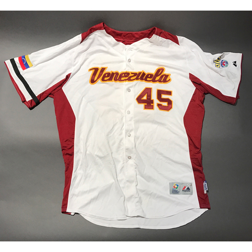 Photo of 2009 World Baseball Classic Jersey - Venezuela Jersey, Jhoulys Chacin #45