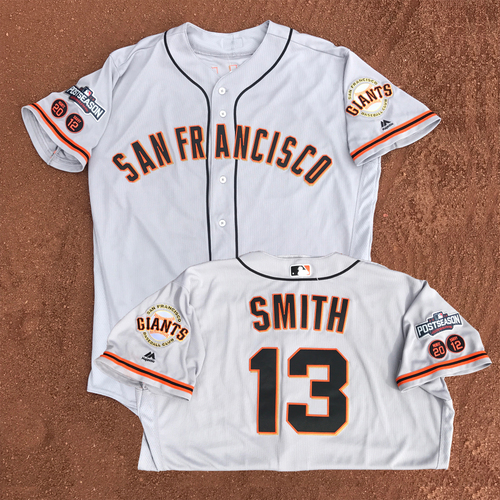 Photo of San Francisco Giants - Game-Used - 2016 Postseason Road Jersey - Will Smith #13 - (size 50)
