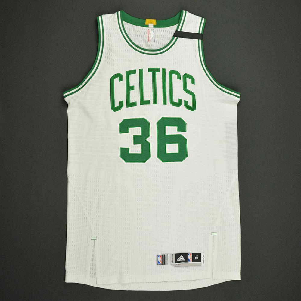 Marcus Smart - Boston Celtics - White Playoffs Game-Worn Jersey - 2016-17 Season