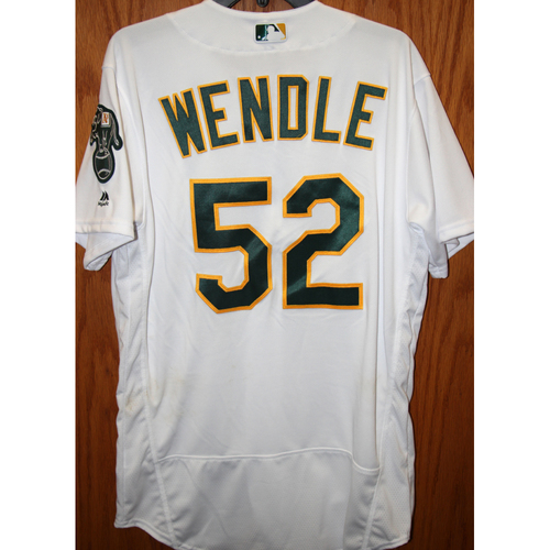 """Photo of Joey Wendle Team-Issued """"Atleticos"""" Jersey"""