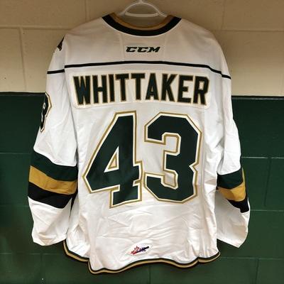 Richard Whittaker 2016-2017 White Game Jersey