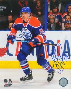 Nail Yakupov - Signed 8x10 Edmonton Oilers Blue Action Photo