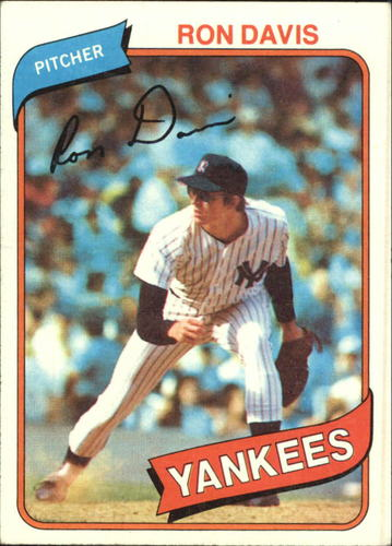 Photo of 1980 Topps #179 Ron Davis RC