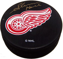 Glenn Hall Autographed Detroit Red Wings Puck