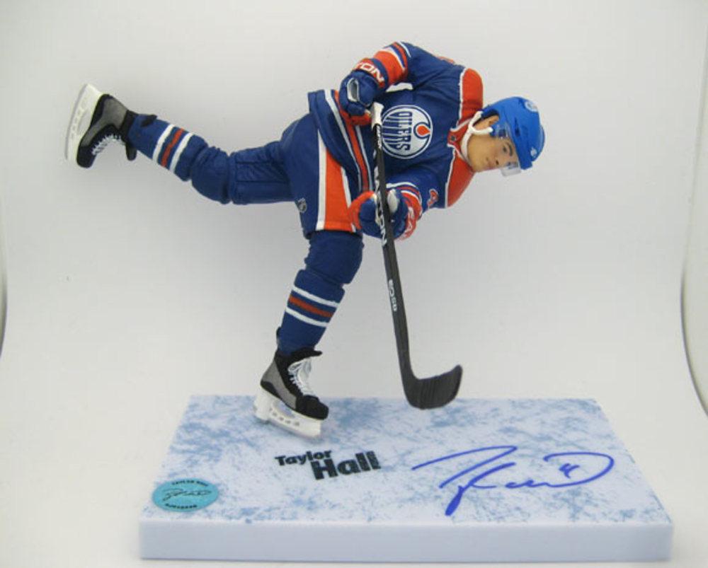 Taylor Hall Edmonton Oilers Autographed McFarlane Figure