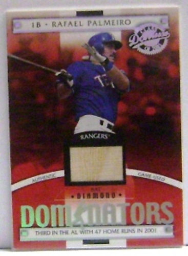 Photo of 2001 Donruss Class of 2001 Diamond Dominators #DM7 Rafael Palmeiro Bat/550