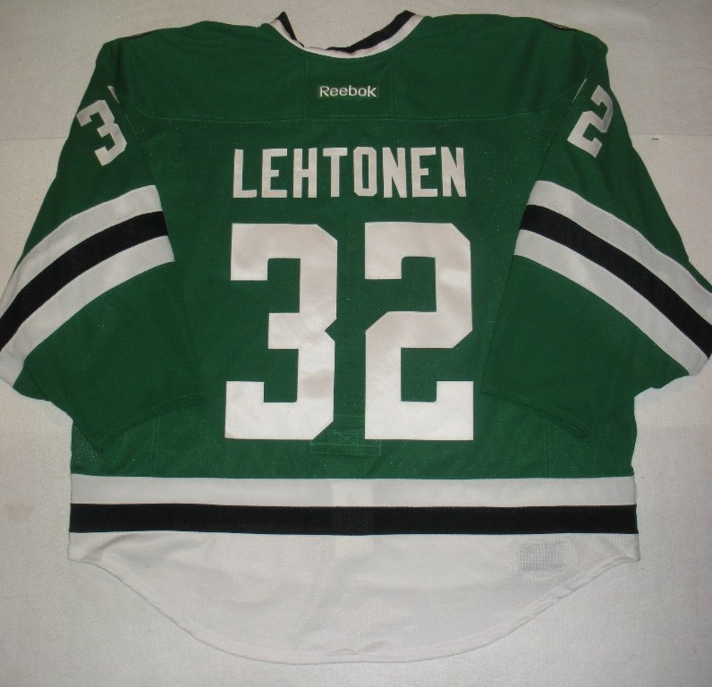 Kari Lehtonen - Mike Modano Night - Second Period Game-Worn Jersey