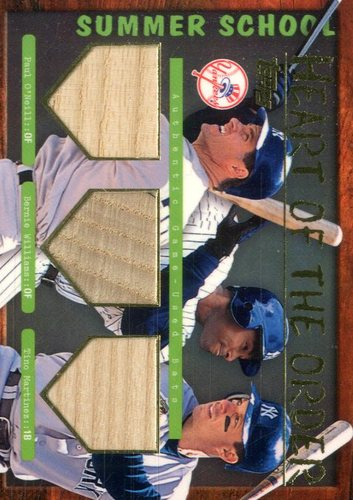Photo of 2002 Topps Summer School Heart of the Order Relics #HTOOWM Paul O'Neill/Bernie Williams/Tino Martine