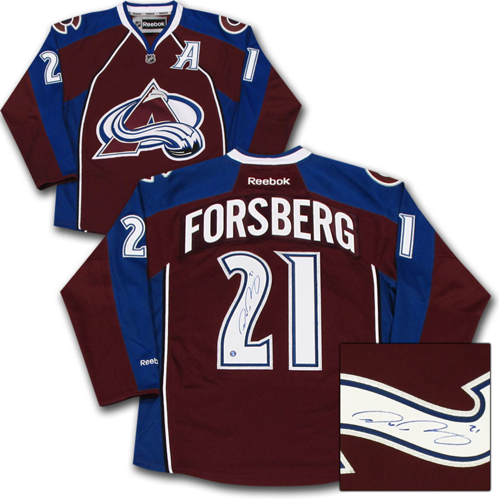 Peter Forsberg Autographed Colorado Avalanche Jersey