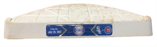 Photo of Game-Used 1st Base -- Used in Innings 1 throuhg 4 -- White Sox vs Cubs -- 7/25/17