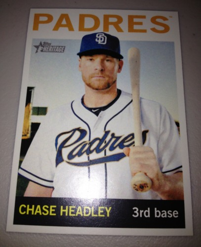 Photo of 2013 Topps Heritage #467A Chase Headley SP