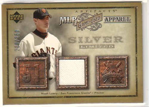 Photo of 2006 Artifacts MLB Game-Used Apparel Silver Limited #NL Noah Lowry Jsy/250